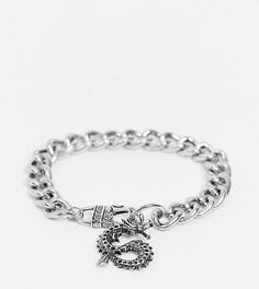 Серебристый браслет с крупными звеньями Reclaimed Vintage inspired-Серебряный