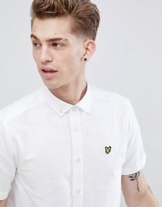 Оксфордская рубашка с короткими рукавами Lyle & Scott-Белый