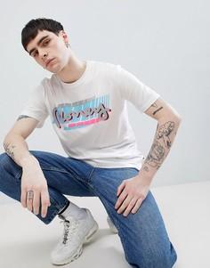 Белая футболка с принтом на спине Money-Белый