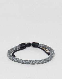 Серый плетеный браслет Classics 77