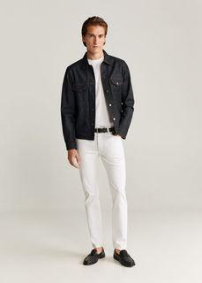 Джинсовая куртка с легким эффектом застиранности - Adrien Mango