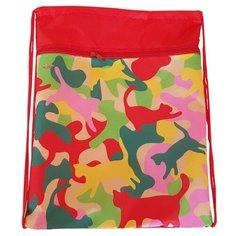 №1 School Мешок для обуви Crazy Cats (1017940) розовый/желтый