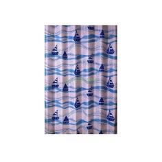 Штора для ванной комнаты Primanova Sailing Boat с синими корабликами 180х200 см