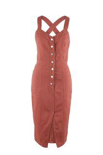 Приталенное джинсовое платье на болтах Love Republic