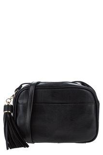 Маленькая черная сумка с животным принтом Love Republic