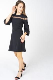 Платье женское Incity 1.1.2.18.01.44.03346 черное 40 RU