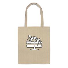 Сумка-шоппер Printio Знак зодиака весы.