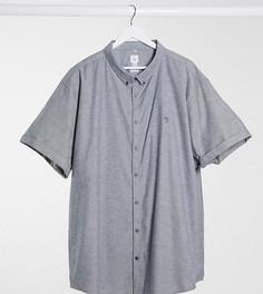 Серая оксфордская рубашка с короткими рукавами River Island Big & Tall-Серый