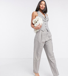 Серо-коричневые брюки от костюма из 3 предметов ASOS DESIGN Tall-Серый