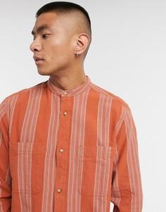 Красная рубашка классического кроя в полоску ASOS DESIGN-Красный