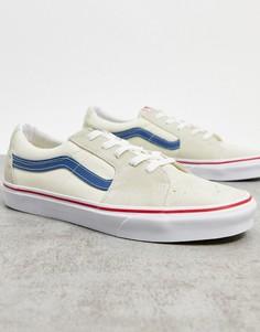 Сине-белыекроссовки Vans SK8-Low-Белый