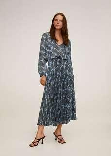 Плиссированная юбка с притом - Deno Mango