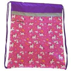 №1 School Мешок для обуви Unicorns (1017930) розовый