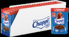 Влажный корм для собак Chappi, говядина по-домашнему,, 28шт, 85г