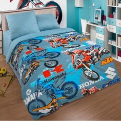 Постельное белье Мотокросс 910 1,5-спальное Артпостель