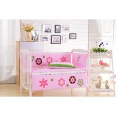 Комплект в кроватку с бортиком Valtery Ярко-розовый DK-21