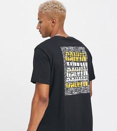 Черная футболка в стиле oversized с принтом на спине Calvin Klein Jeans эксклюзивно на ASOS-Черный