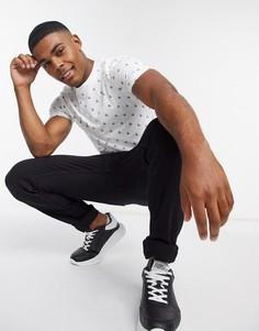 Узкая футболка Calvin Klein Jeans-Белый