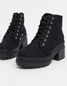 Черные ботинки на каблукеASOS DESIGN-Черный