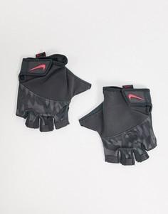 Серые женские спортивные перчатки Nike Training-Серый