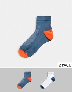 Набор из 2 пар легких разноцветных носков Asics-Мульти