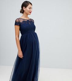 Платье макси Chi Chi London Maternity-Темно-синий