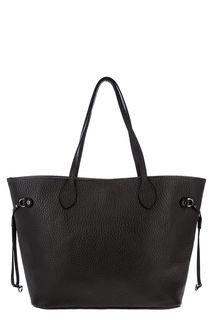 Вместительная кожаная сумка в форме трапеции Azaro