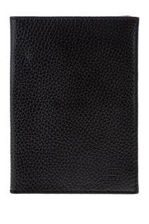 Черная кожаная обложка для паспорта Mumi