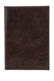 Коричневая кожаная обложка для паспорта Mumi