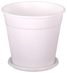 """Горшок цветочный """"Клён"""" с поддоном, 3 литра (белый) Alternativa"""