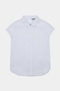 Блузка Gulliver для девочек, цв. белый, р-р 122