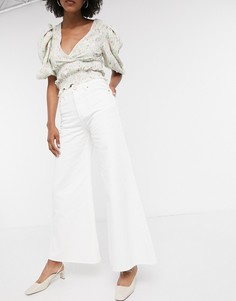 Белые широкие джинсы Lost Ink-Белый