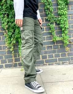 Суженные книзу брюки-карго цвета хаки Carhartt WIP-Зеленый