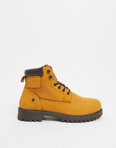 Светло-бежевые кожаные армейские ботинки Levi-Бежевый Levis®