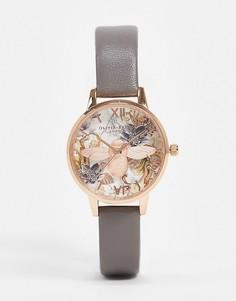 Розово-золотистые часыс 3D-пчелой икожаным ремешком Olivia Burton-Золотой