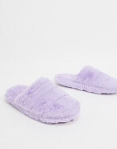 Лавандовые стеганые слиперы ASOS DESIGN-Фиолетовый