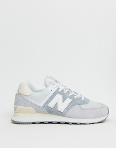 Серые кроссовки New Balance 574-Серый
