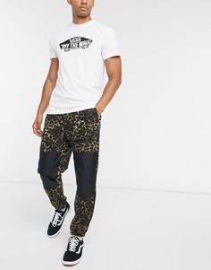 Флисовые брюки с леопардовым принтомVans-Коричневый