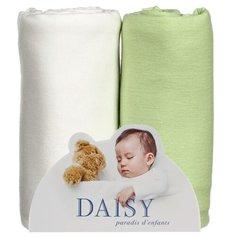 Многоразовые пеленки Daisy трикотаж 90х120 комплект 2 шт салатовый