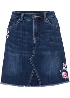 Юбка джинсовая с вышивкой Bonprix