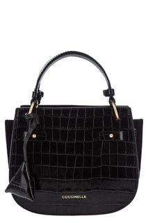 Маленькая кожаная сумка с выделкой под рептилию Didi Croco Coccinelle