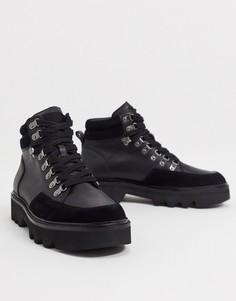 Черные ботинки-хайкеры All Saints-Черный