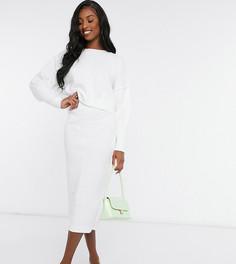 Белая юбка мидакси с декоративным швом Missguided Tall-Белый