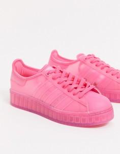 Розовые кроссовки adidas Originals Superstar Jelly-Фиолетовый