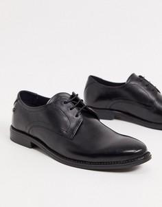 Черные кожаные туфли на шнуровке Base London-Черный