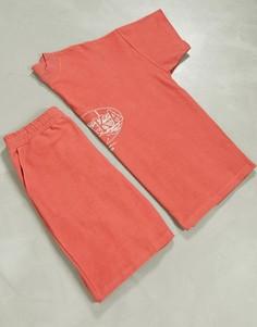 """Оранжевая пижама с вышивкой """"OSAKA"""" ASOS DESIGN-Оранжевый"""