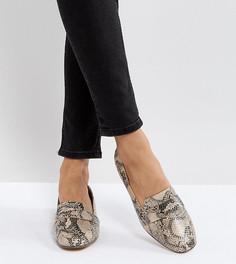 Туфли на плоской подошве ASOS MILESTONE-Бежевый