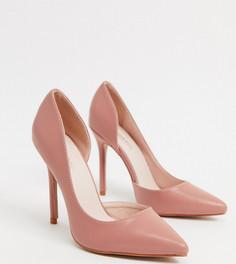 Розовые туфли-лодочки для широкой стопы Glamorous-Бежевый