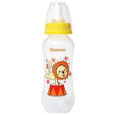 Fissman Бутылочка пластиковая 240 мл 6878\6879\6880 с рождения, желтый