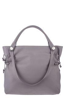 Вместительная кожаная сумка на молнии Deboro